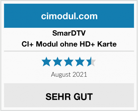 SmarDTV CI+ Modul ohne HD+ Karte Test