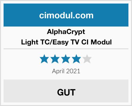 AlphaCrypt Light TC/Easy TV CI Modul Test