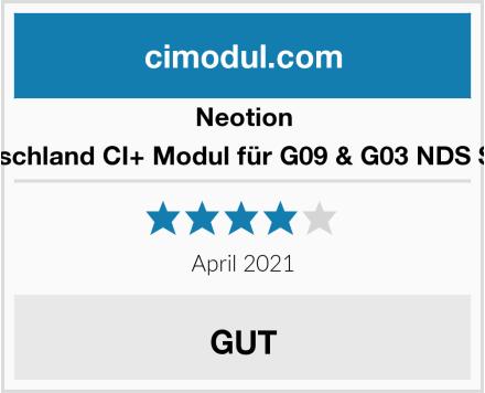 Neotion Kabel Deutschland CI+ Modul für G09 & G03 NDS SmartCards Test