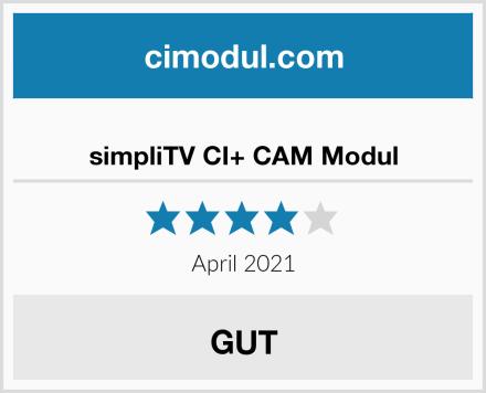 simpliTV CI+ CAM Modul Test