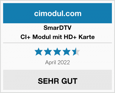 SmarDTV CI+ Modul mit HD+ Karte Test